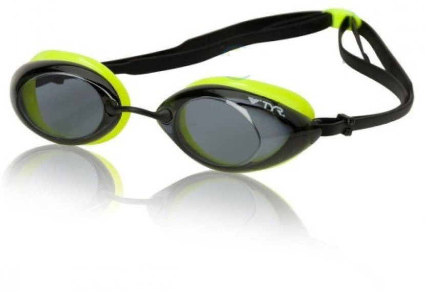 TYR Tracer Racing Metallized Swimming Goggles