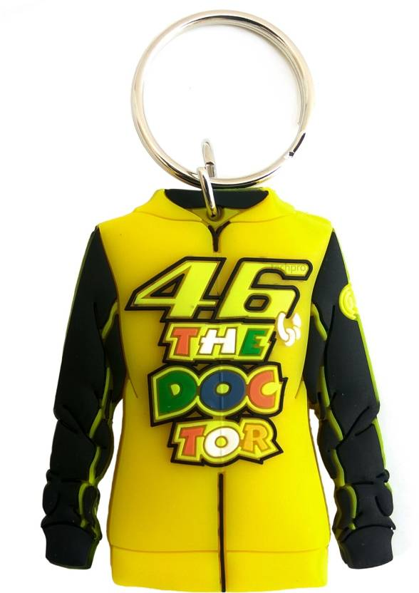 Techpro Doublesided Dr46 Valentino Rossi Jacket Design Key Chain (Multicolor)