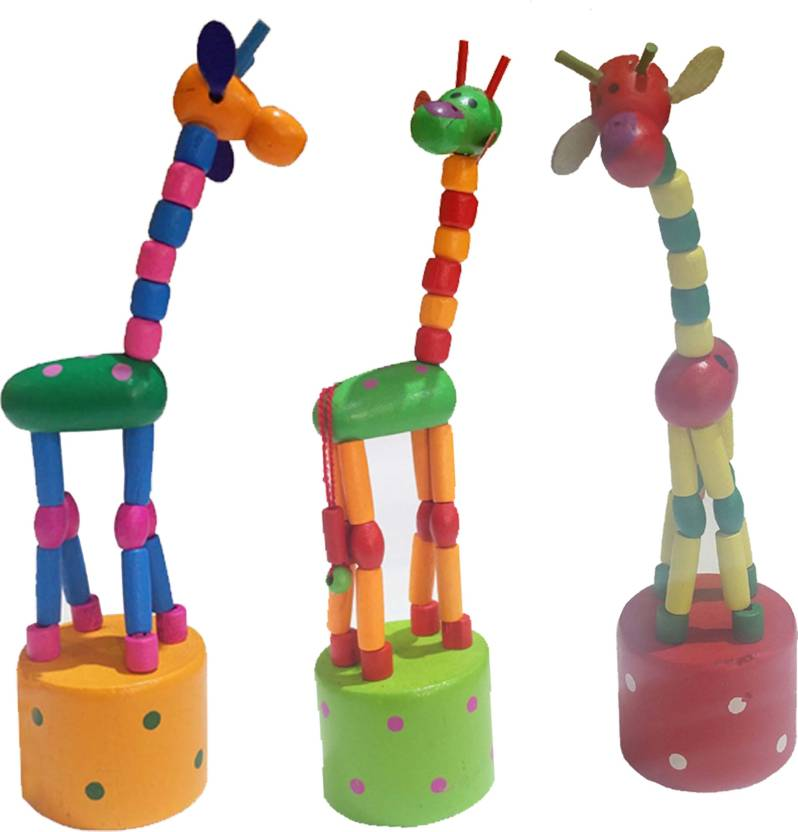 Khadi Eco Basket Buy 1 Channapatna Giraffe Spring Toy Price In India