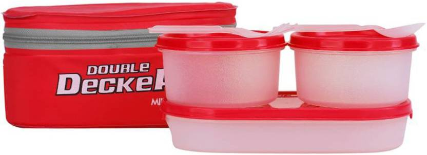 Milton Double Decker Insulated 3 Containers Lunch Box 950 ml