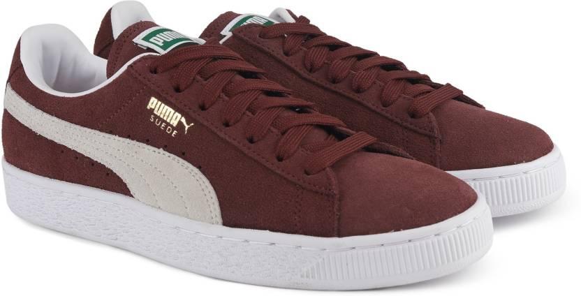 Puma Suede Classic+ Sneakers For Men - Buy cabernet-white Color Puma ... 6f2880900