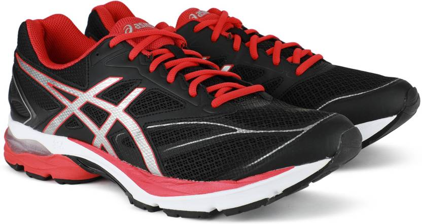 057b318412d7 Asics GEL-PULSE 8 Running Shoes For Men - Buy BLACK VERMILION SILVER ...