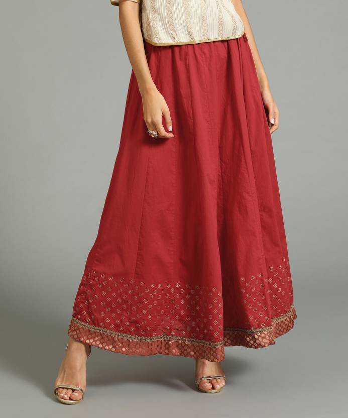 c0fd4fcc4f0e Biba Printed Women Flared Red Skirt - Buy FUS Biba Printed Women Flared Red  Skirt Online at Best Prices in India | Flipkart.com