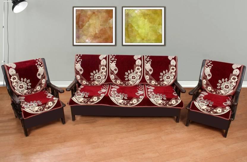Sensational Vrinda Home Decor Satin Sofa Cover Price In India Buy Machost Co Dining Chair Design Ideas Machostcouk