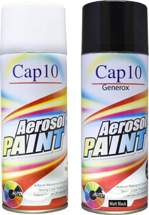 Generox Cap10 Multipurpose Aerosol Spray Paint Matt Black