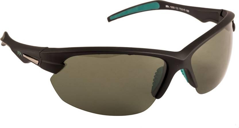 55e27031d1 Buy Farenheit Wrap-around Sunglasses Black For Men Online   Best ...