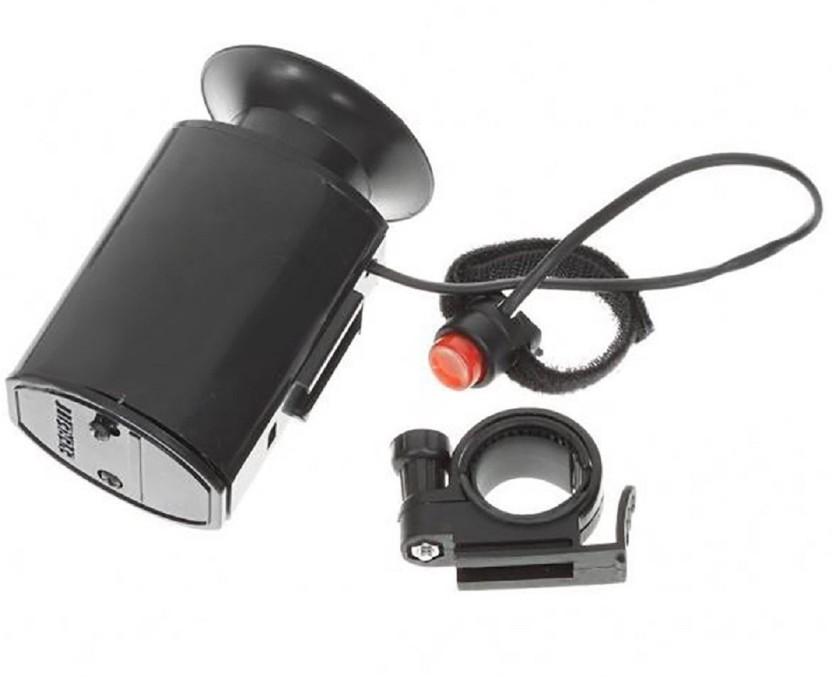 Bicycle Horn Electronic Black Speaker 6 Bike Bell Loud Sounds Ultra Siren Alarm