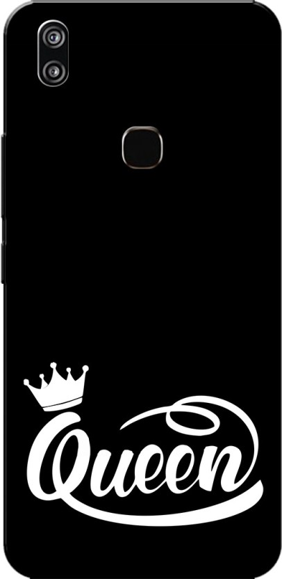 Aseria Back Cover For Queen Black White Slim Fit Hard Case Cover