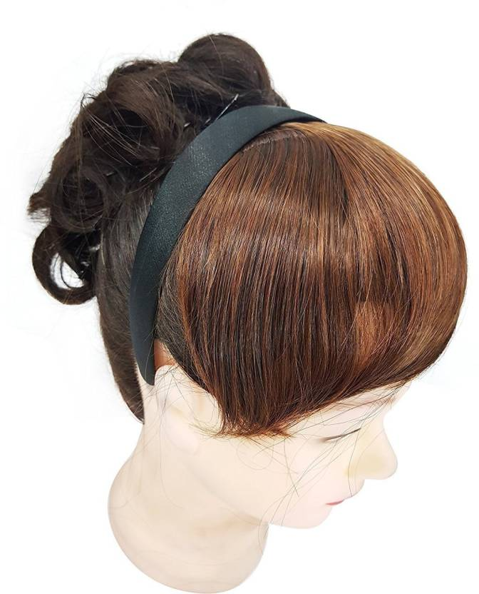 Prime Synthetic Fringe Bangs Wig With Headband Hair Extension Price