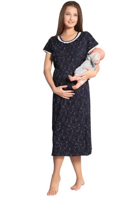 a5b3d376a2417 Piu Women Maternity/Nursing Nighty - Buy Piu Women Maternity/Nursing ...