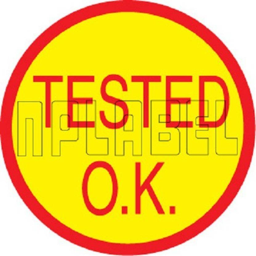 NPLABEL Tested Ok Printed - 30 X 30 mm, 500 Stickers Per