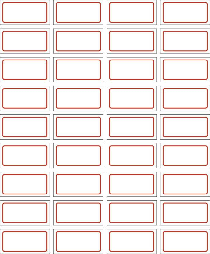 NPLABEL Blank Stickers With Border for General Use - 40 X 20 mm, 500