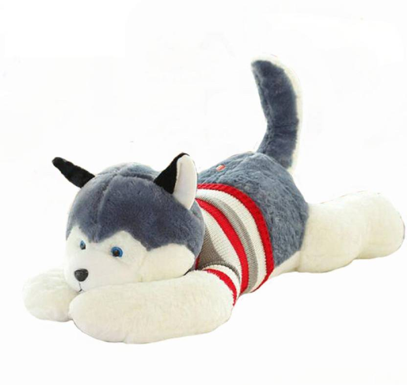 Skylofts Huge 65cm Husky Dog Soft Toy For Lovers Birthday Gift Cushions Kids