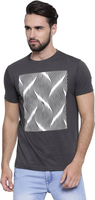 8740d6f82 LonWolf Abstract Men's Round Neck Grey T-Shirt - Buy Grey LonWolf Abstract  Men's Round Neck Grey T-Shirt Online at Best Prices in India | Flipkart.com
