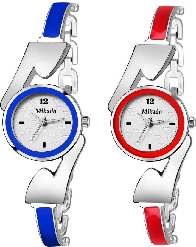 90099b3e0 Mikado Artistic Bracelet Fashion Multicolor Analog watch for Women   Girls  Watch - For Girls - Buy Mikado Artistic Bracelet Fashion Multicolor Analog  watch ...