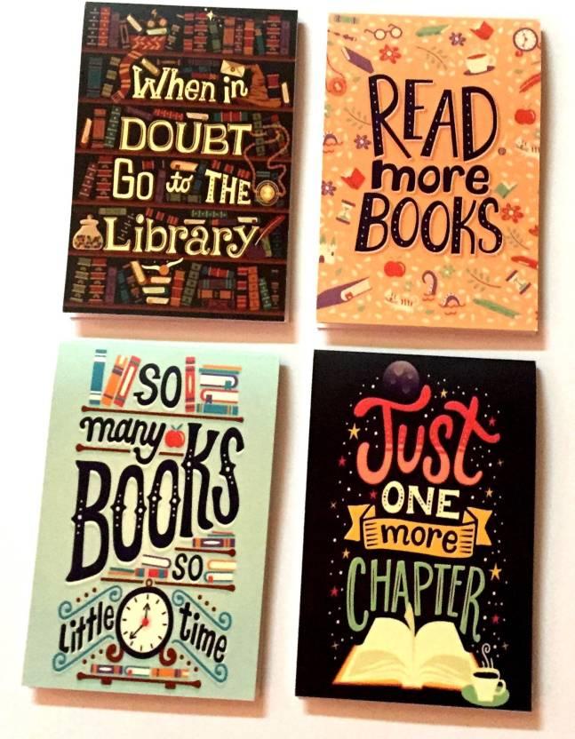 249936b1fbd MACRO Magnet Bookmarks book lovers edition 2 magnet bookmarks Bookmark  (book lovers, Multicolor)