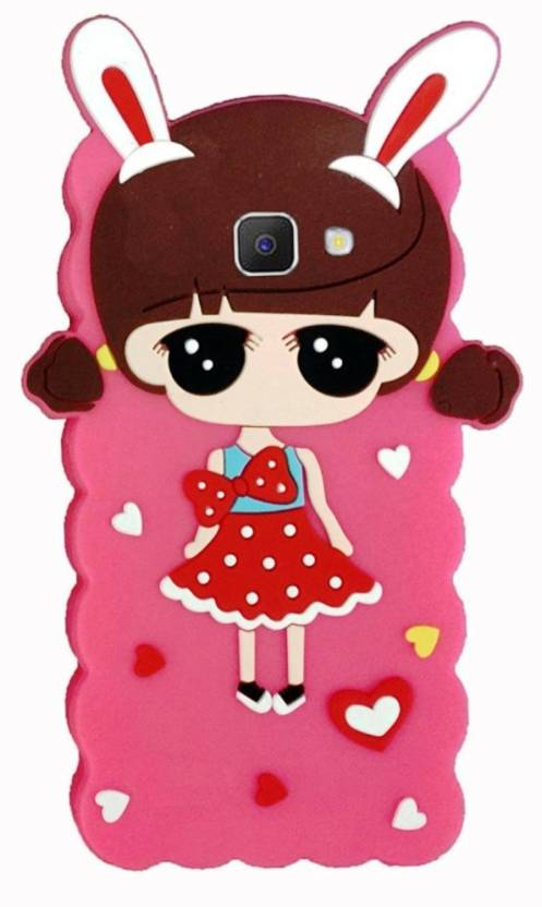 b0ec93124 ANVIKA Back Cover for Doll Girly Hello Kitty Soft Silicon Back Case Cover  For Samsung Galaxy J7 Prime (Pink, Dual Protection, Flexible Case)
