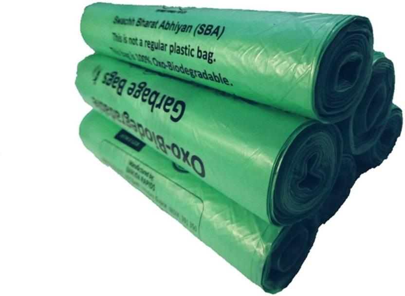 Naturepac Garbage Bags Biodegradable Premium Small Green Colour Size 43 Cm X 51 180