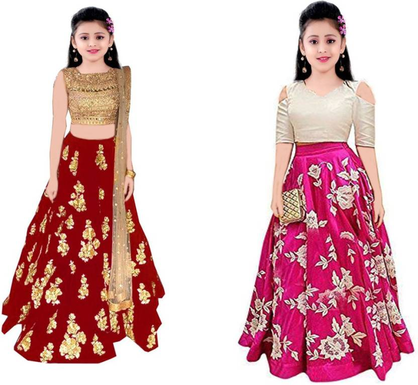 4d98a5d99c4 MF Retail Girl s Casual Gown Gown (Multicolor)
