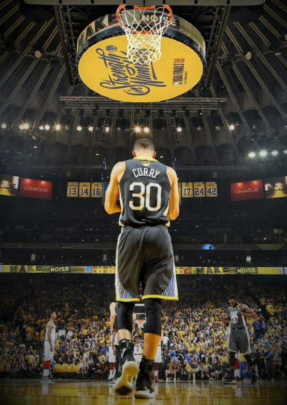Stephen Curry Golden State Warriors Poster 2018 Photographic Paper (18 inch X 12 inch, Poster Tube)