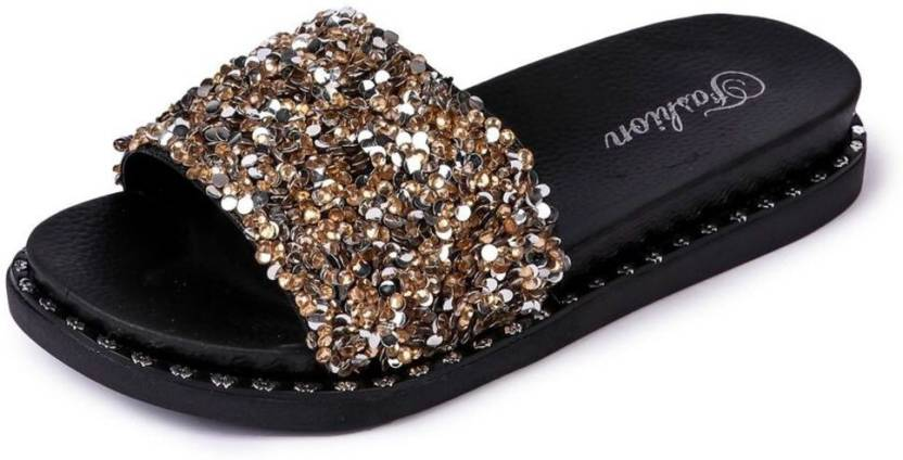 329215c5b6394 Brauch Brauch Women s Glitters Sliders Slides - Buy Brauch Brauch Women s  Glitters Sliders Slides Online at Best Price - Shop Online for Footwears in  India ...