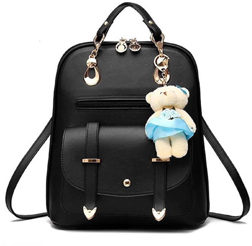 049c5444c3 Vintage Stylish Ladies Backpack(A-17-BLACK) 25 L Backpack BLACK ...
