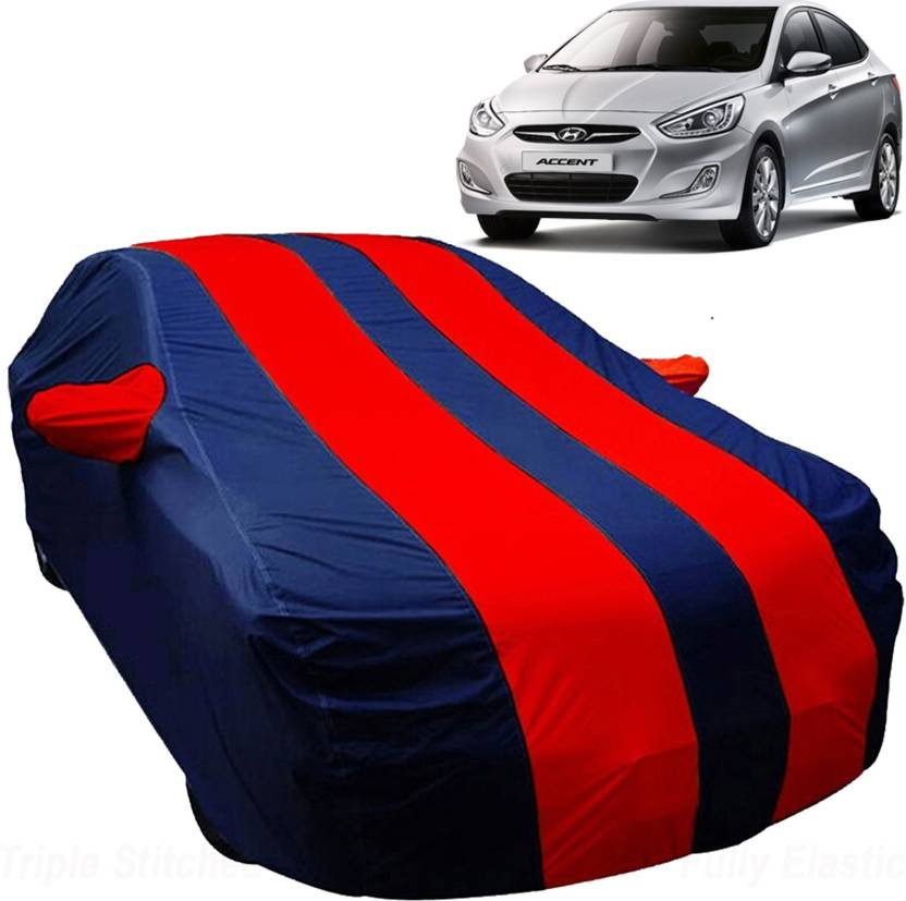 Uk Blue Car Cover For Hyundai Accent With Mirror Pockets Price In