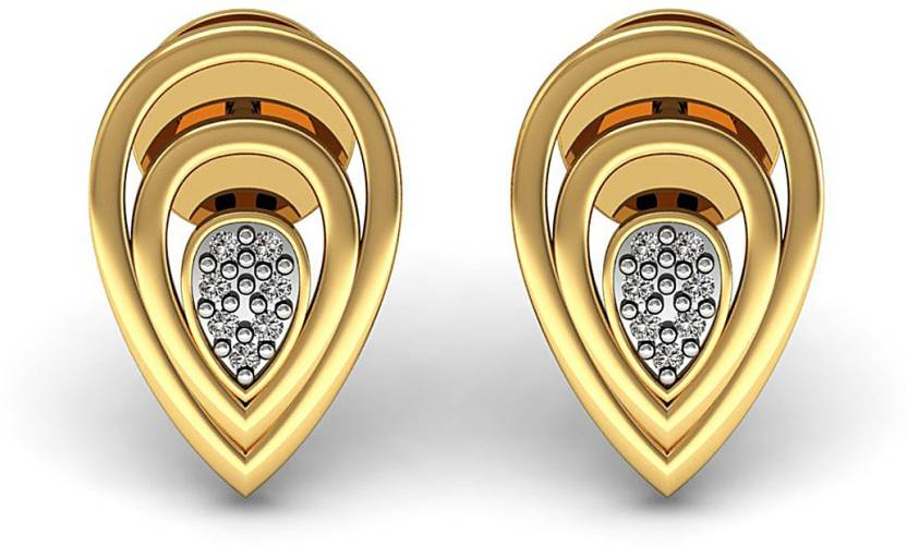 b6a2370bd Vanna Jewels Genuine Diamond Designer Stud Earrings Daily Wear Jewelry  Yellow Gold 18kt Diamond Stud Earring Price in India - Buy Vanna Jewels  Genuine ...