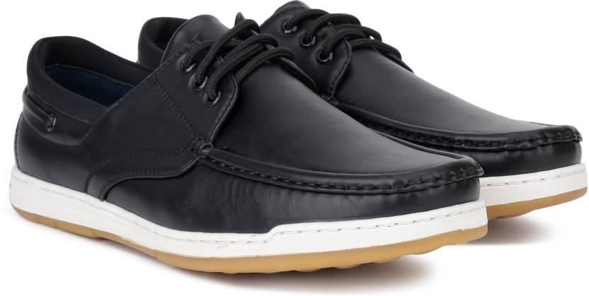c5d47acdb7659e V Dot by Van Heusen Boat Shoes For Men - Buy BLACK Color V Dot by ...