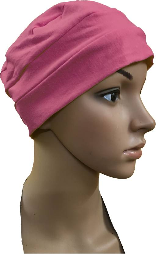 GIRIJA Solid LIGHT PINK CHEMO BEANIES CANCER CAPS WOMEN SUMMER CHEMO CAPS  SLEEP TURBAN FOR WOMEN UNDERSCARF CAPS UNDER HIJABS WOMENS PREGNANCY CAPS  EAR ... 498705eea172
