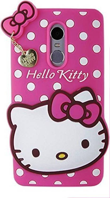 the latest 5201e c0d4c ANVIKA Back Cover for Cute Hello Kitty Soft Silicone With Pendant ...