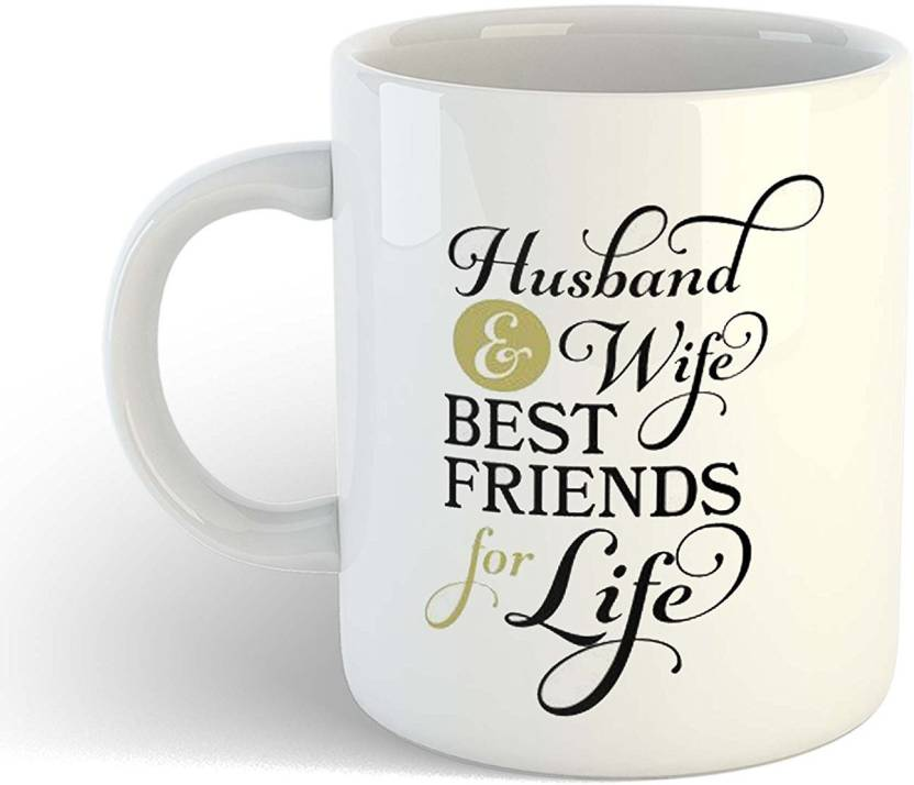 Ikraft Husband And Wife Bestfriends For Life Printed Coffeemug For