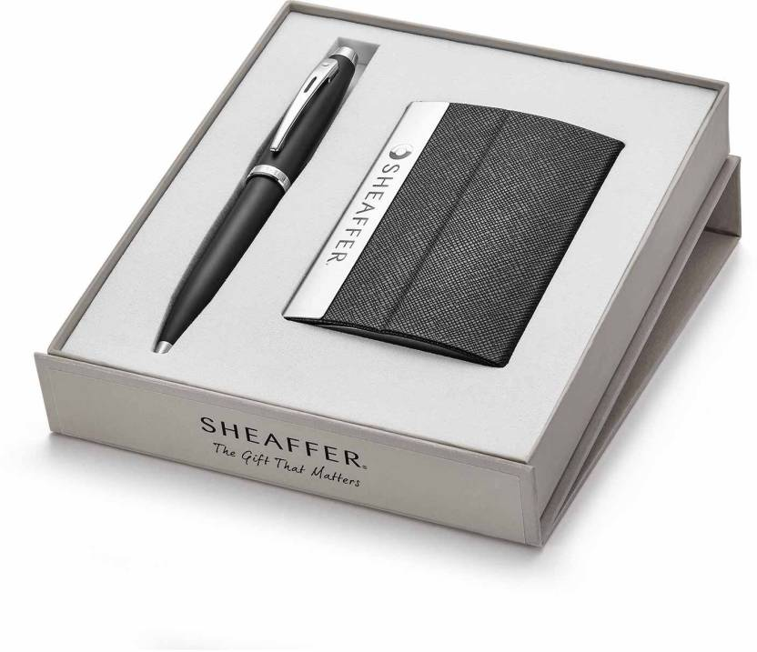 Sheaffer 9317 ballpoint pen with business card holder pen gift set sheaffer 9317 ballpoint pen with business card holder pen gift set colourmoves