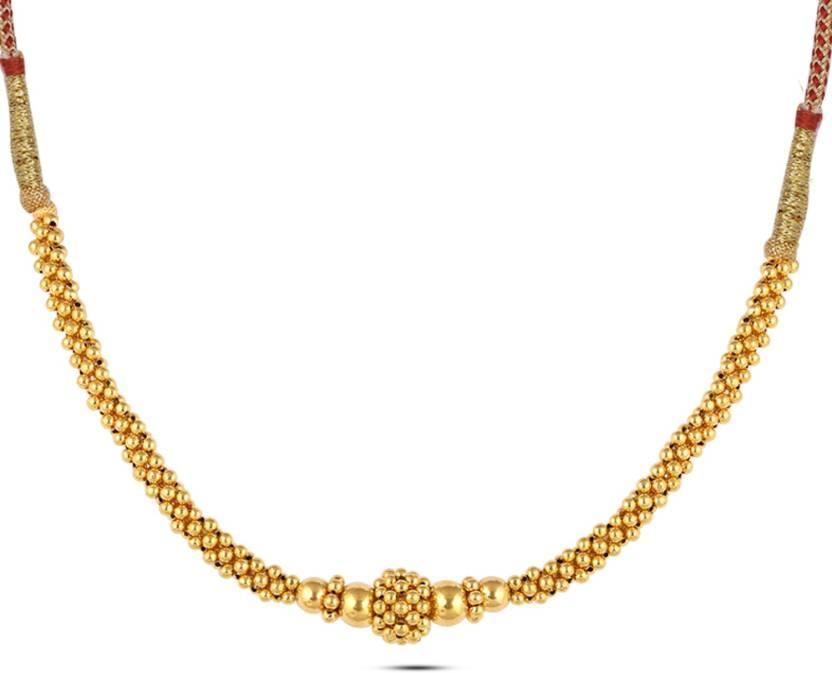 58e3398f87f15 P.N.Gadgil Jewellers NEL0020997 Choker Yellow Gold Precious Necklace ...