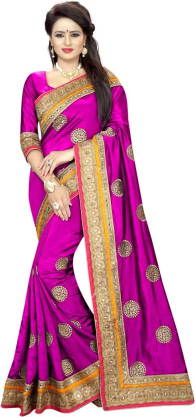 c30782078 Buy Online Bazaar Embroidered Fashion Poly Silk Pink Sarees Online ...