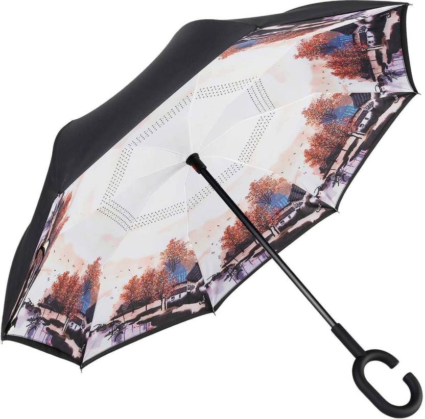 a3b57f0cabe5 N-STORE Inverted Umbrella Windproof Upside Down Reverse Travel ...