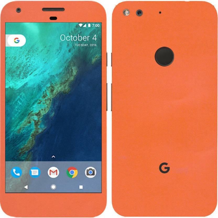 Vcare GadGets V4U 956 GG Orange Matte For Back Front Of Google Pixel