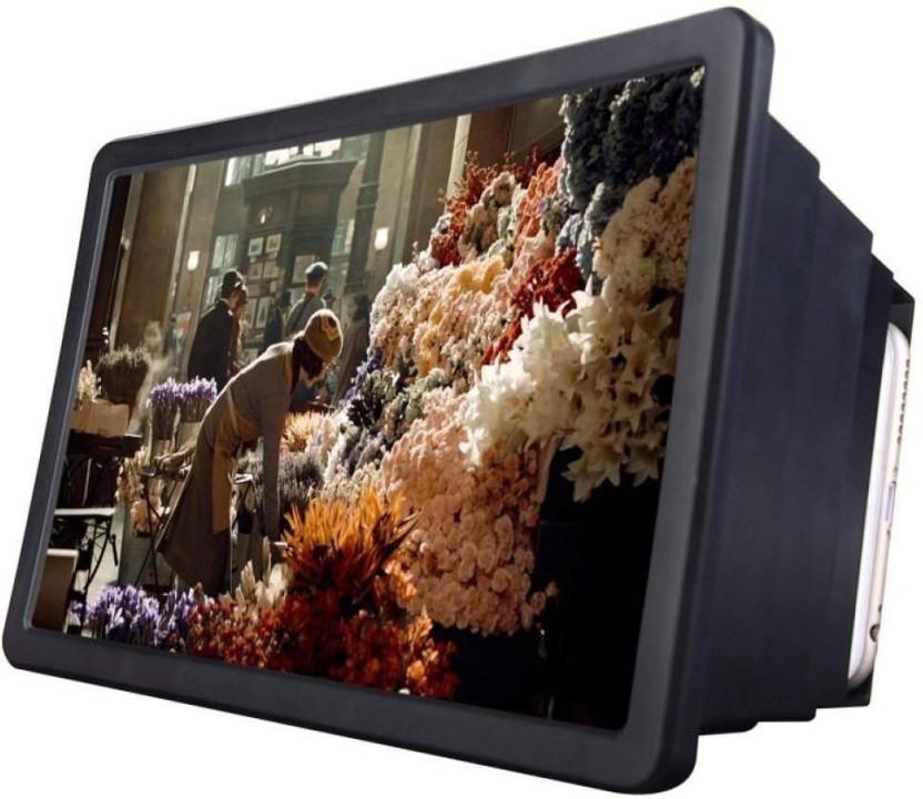 3D Mobile Phone Screen Magnifier HD Video Amplifier for Smart Phones Black SODIAL R