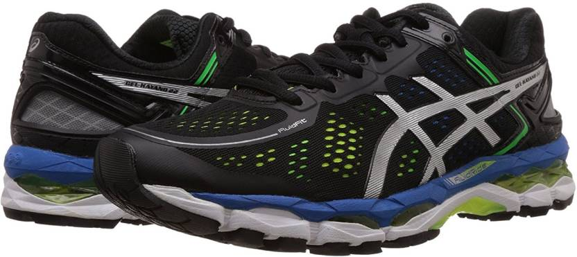 Asics GEL KAYANO 22 BLKSLVYLW Running Shoes For Men