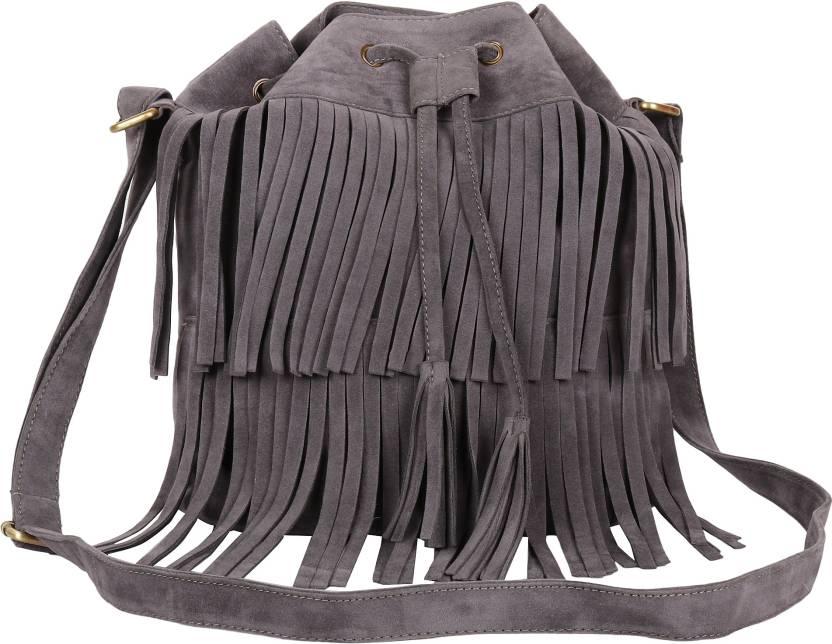 7fbc6c587086c Lychee Bags Women Casual Grey PU Sling Bag Grey - Price in India    Flipkart.com