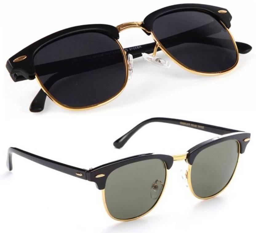 6e9e1620dd5e Buy Phenomenal Clubmaster Sunglasses Black