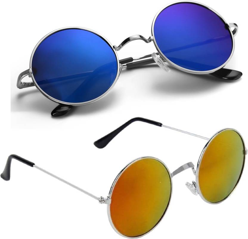 4925eb663b3 Buy Phenomenal Round Sunglasses Blue