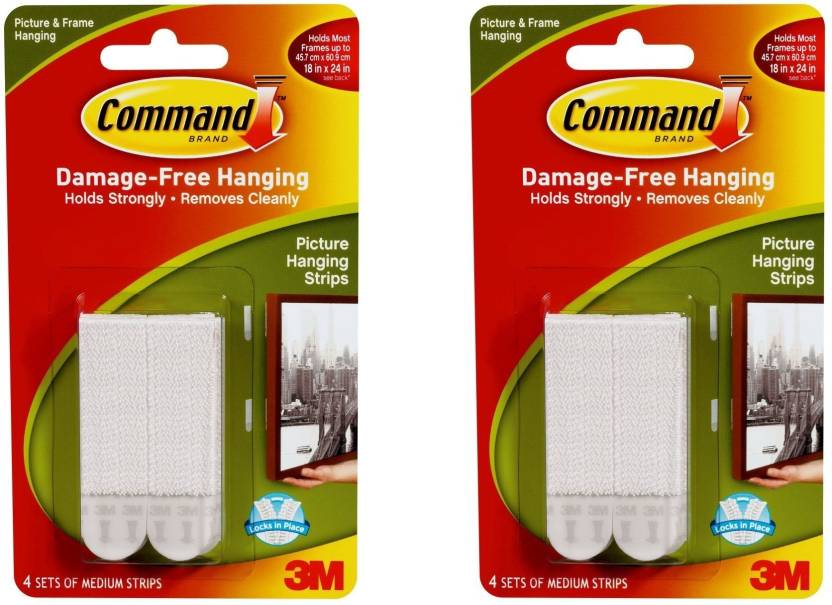 3m Command Medium Picture Hanging Strips With 4 Strips Pack Of 2 4
