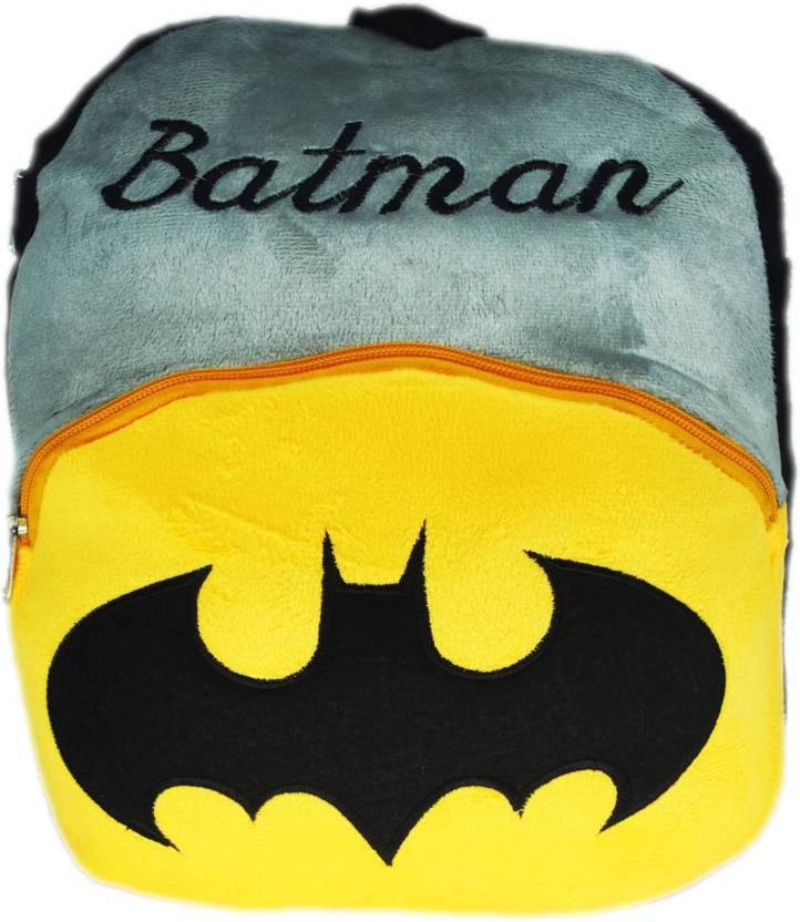 ff8d47eee5 Netboys Batman Kids School Bag Soft Plush Backpack Plush Bag (Black