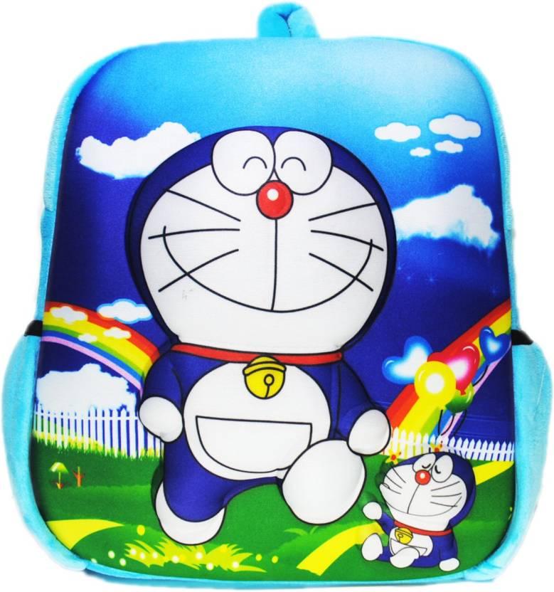 FAVINO Doraemon School Bag for Nursery Kids Plush Bag (Blue e6b90a6cf1fe3