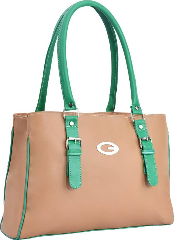 8bc3bb15aa8 Buy Lady bar Shoulder Bag Tan, Green Online @ Best Price in India ...
