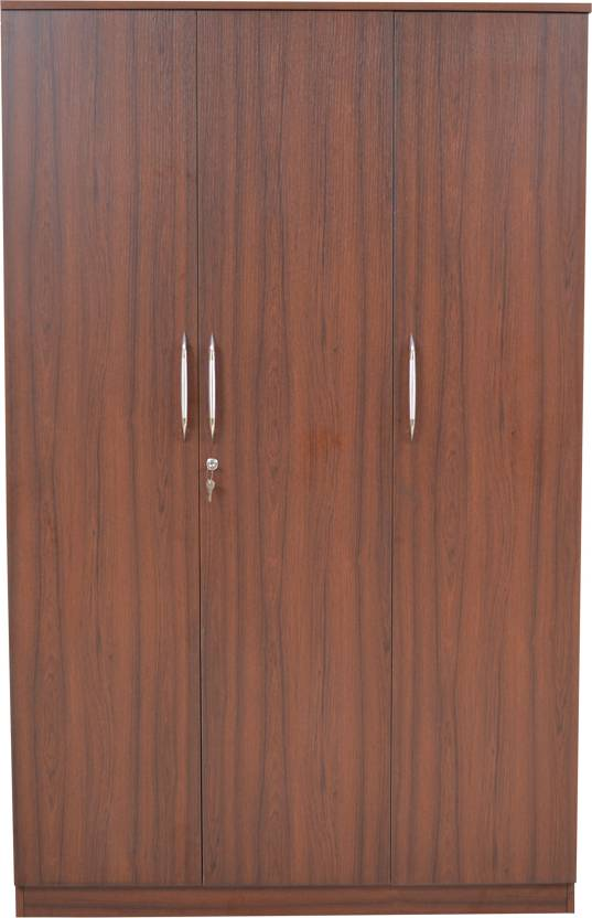 Crystal Furnitech Engineered Wood 3 Door Wardrobe Price In