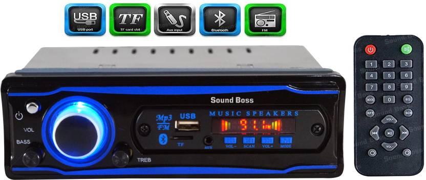 Sound Boss SB-0000BT(BLUE) BLUETOOTH/USB/SD/AUX/FM/MP3  Car Stereo