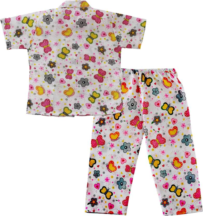 00201e8a9f BownBee Kids Nightwear Girls Printed Cotton Price in India - Buy ...