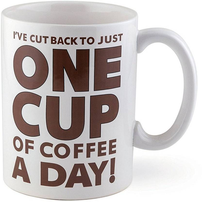 Devron One Cup Of Coffee Gigantic Funny Huge Ceramic Gag Gift For Lovers Mom Sister Aunt Friend Him Her Birthday